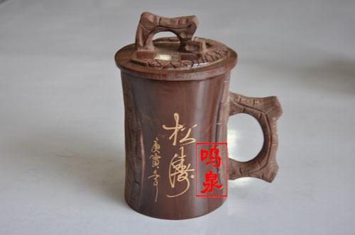 木鱼石茶具,,泰山木鱼石杯子,木鱼石