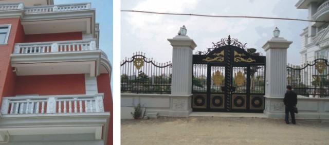 欧式别墅大门柱子图片