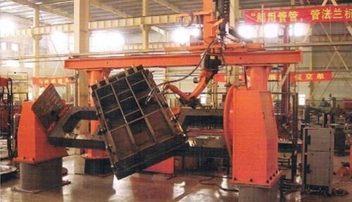 液压支架结构件机器人焊接机图片