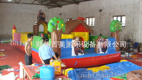 新款儿童充气城堡 贵州充气蹦床价格-海商网