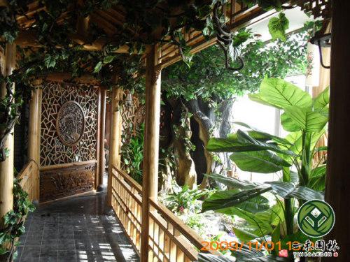 入户花园景观设计 室内入户花园景观设计