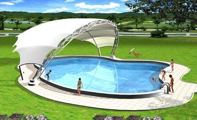 游泳池膜结构设计