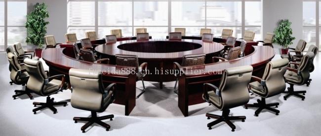 会议室圆形会议桌郑州富之达实木系列fzd -1308