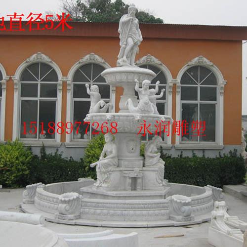 人物石雕喷泉|曲阳县永润雕塑有限公司