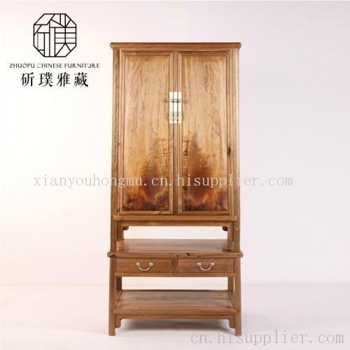 中式古典家具金丝楠木圆角柜