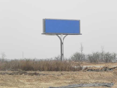 巨型双面单立柱广告牌