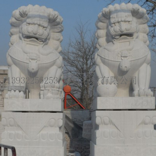 古代石雕门狮|曲阳县金虹石材雕刻有限公司