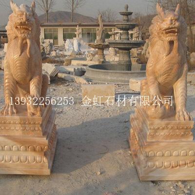 蹲式麒麟石雕-海商网,雕刻和雕塑品产品库