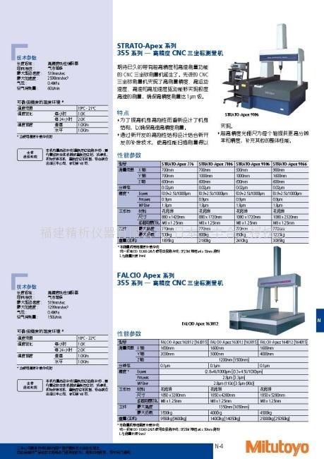 日本三丰MitutoyoSTRATO-APex系列 355系列-高精度CNC三坐标测量机福建总代理