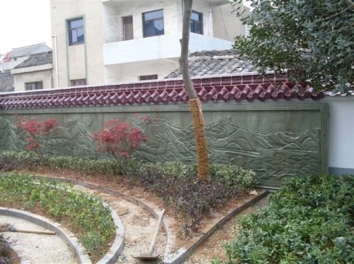 广汉围墙浮雕_浮雕雕塑