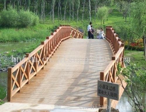 庭院木桥手绘图