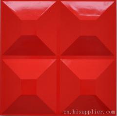 红色三维扣板