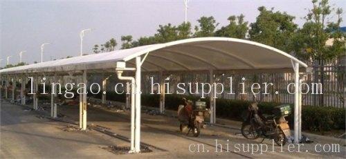 公共自行车雨棚  产地: 安徽省 合肥市 产品摘要: 合肥宇杰不锈钢专业