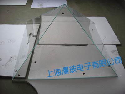 360度/360°无缝拼接全息投影幻影成像玻璃金字塔/柜