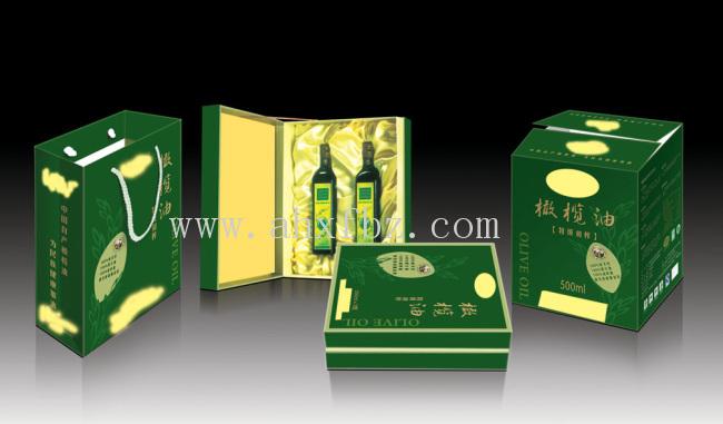 油礼盒的设计不但形状多,而且绿色环保,高端大气.