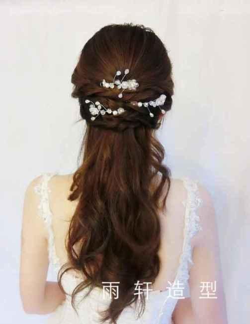 韩式复古编发新娘造型图片