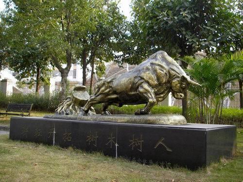 铸铜雕塑 大型招财金属动物雕塑