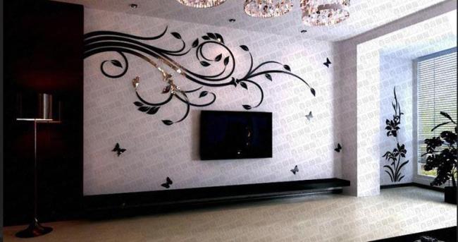 pvc装饰线条电视背景墙欧式