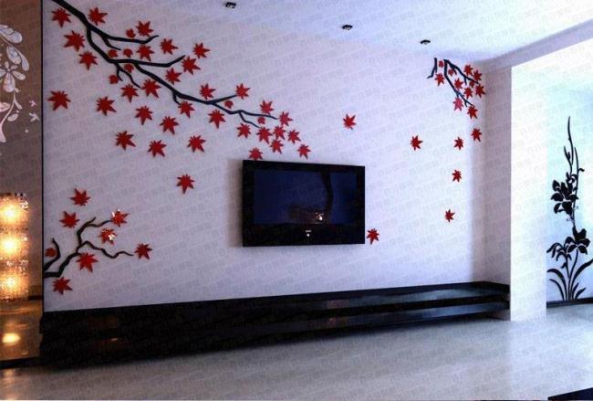 电视背景墙制作图片