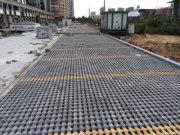 特房银溪府李停车场植草砖项目完工