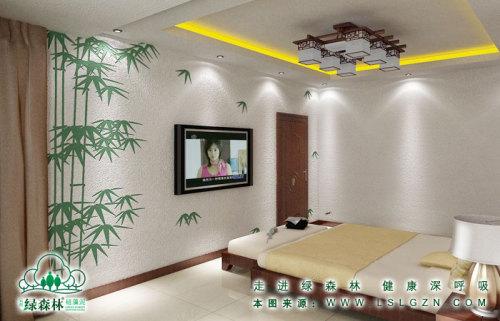 简约风格硅藻泥卧室