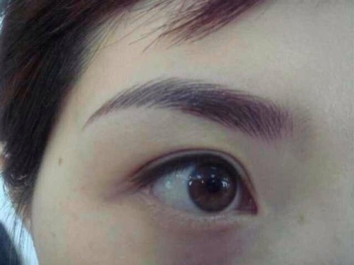 眉部纹绣上色相关问题