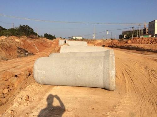 廈門翔安大嶝島水泥管工程---施工現場