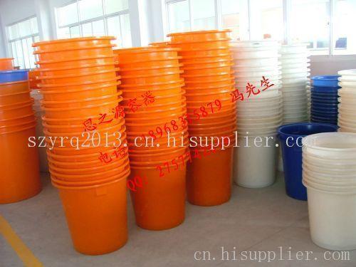 重庆食品厂5吨环保耐磨型敞口塑料桶