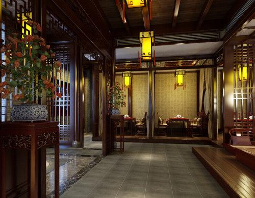 青岛茶楼会馆装修