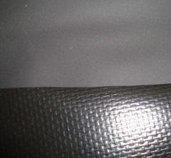 黑色雾面压延PVC夹网布
