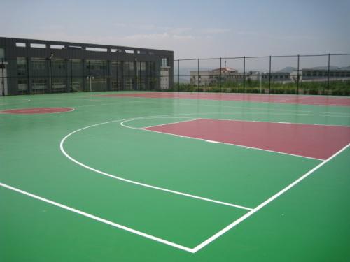 成都篮球场地铺设