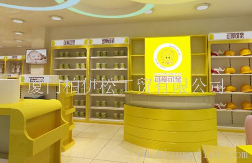 可爱可亲母婴店装修展示柜货架定做工厂出货价格优惠