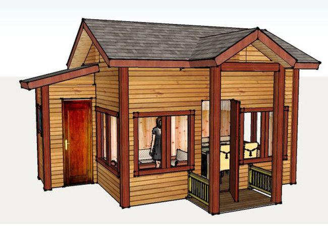 贵州防腐木木屋结构