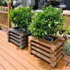 柳州园林景观设计   柳州防腐木花箱