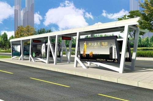 艾尼尔ah-b-2现代都市款候车亭,不锈钢候车亭,公交站台