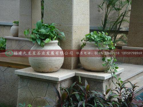 品名:花岗岩花钵  户外景观花钵  石雕欧式花钵  绿化工程花钵  广场