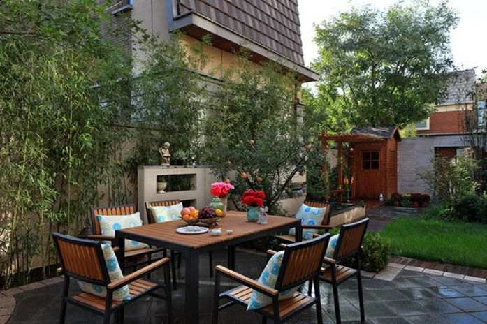 中式别墅庭院设计案例广州春木别墅兰卡乌鲁木齐园林图片