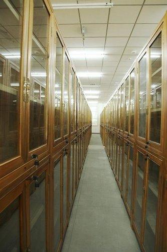 香樟木图书馆书柜定制厂