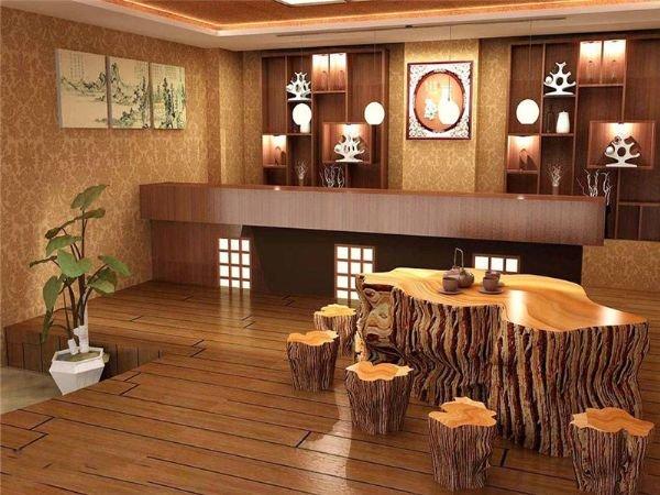 红木茶台配地毯效果图