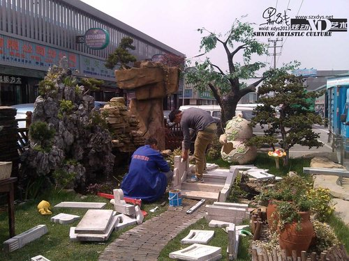 庭院景观 小桥流水 别墅景观 室内造景 阳台景观供应