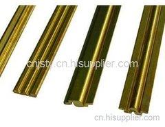 锁芯铜型材