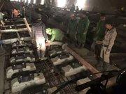 沪昆高铁中铁五局安顺段车载泵浇注