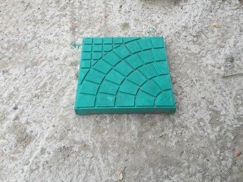 绿色扇形砖