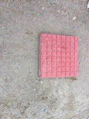 红色格子彩砖