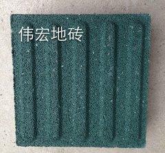 绿色圆珠止步砖