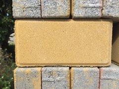 鲜黄细面分层透水砖