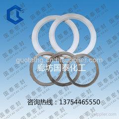 四氟包覆波紋板墊片耐高溫高壓四氟包覆不銹鋼波紋板墊片廠家