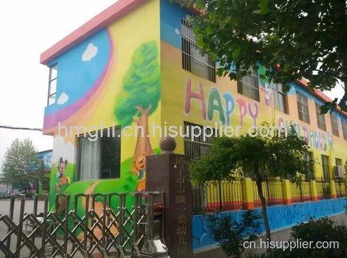 幼儿园墙面彩绘-海商网