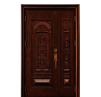 雅帝乐铝木精雕装甲门