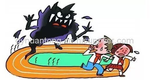 动漫学校操场场景素材